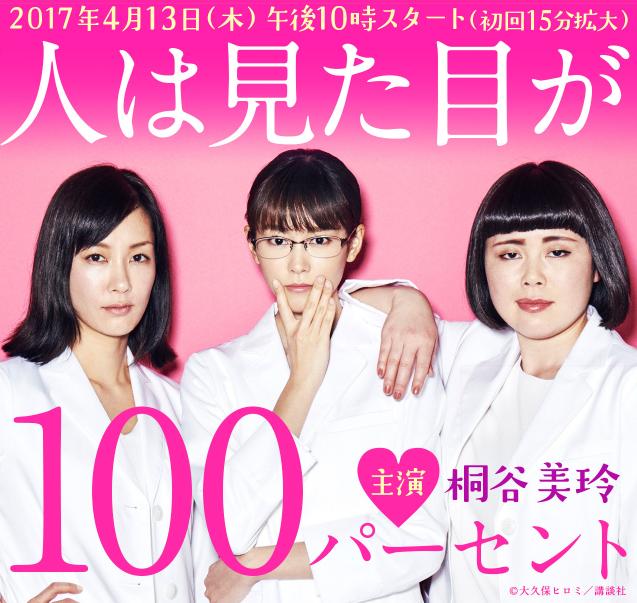 桐谷美玲が新ドラマ『人は見た目が100パーセント』で下着シーン?原作・あらすじとは