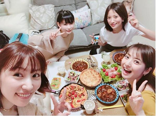 しょこたん自宅で手料理パーティーに佐々木希・徳永えり・夏菜が中川翔子に絶賛!